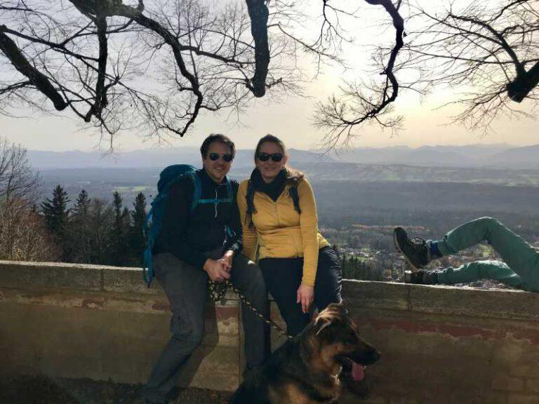 mit Christian & Bella beim Wandern