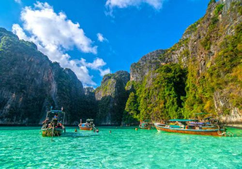 Pileh blue lagoon at phi phi island, Krabi, Thailand.